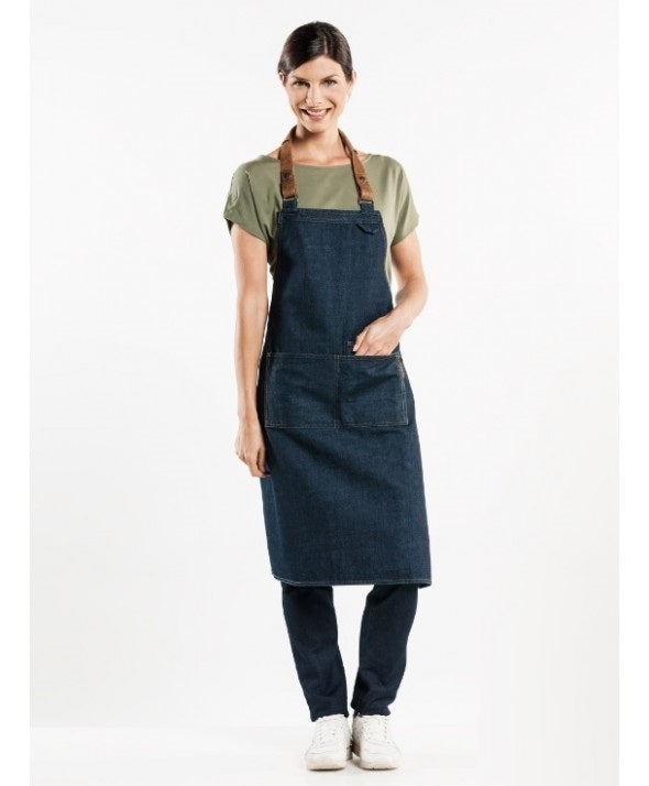 Chaud Devant Bib Apron Forene Blue Denim 63499
