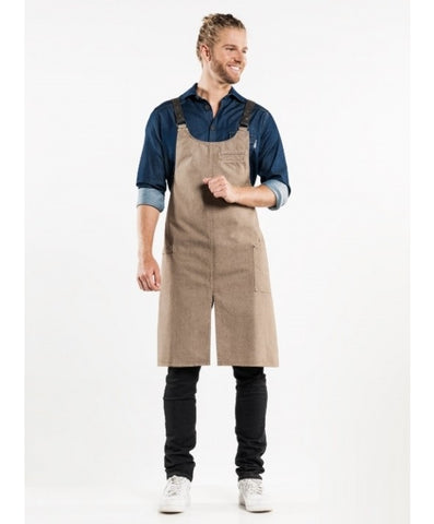 Chaud Devant Bib Apron Forene CROSS Mud Denim 65299