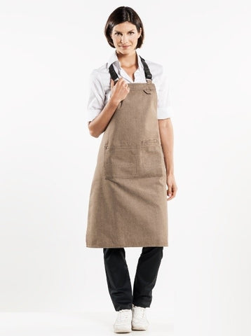 Chaud Devant Bib Apron Forene Mud Denim 65399