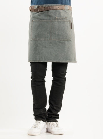 Chaud Devant Apron Forene Grey Denim 85499