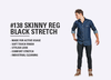 Skinny REG Black Stretch