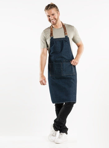 63499 BIB APRON FORENE BLUE DENIM