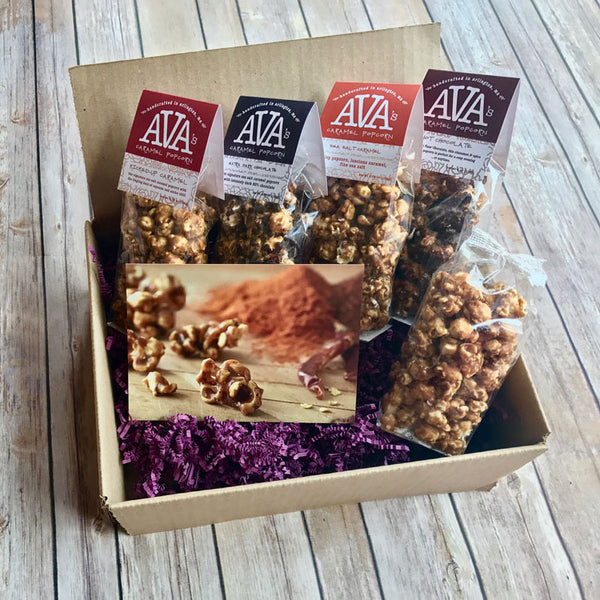 Ava's Caramel Popcorn Subscription Box