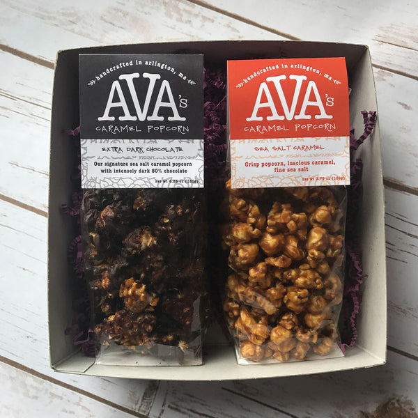 Ava's Caramel Popcorn Favorites Gift Box