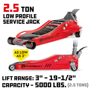 2-1/2 Ton Low Profile Fast Lift Floor Jack