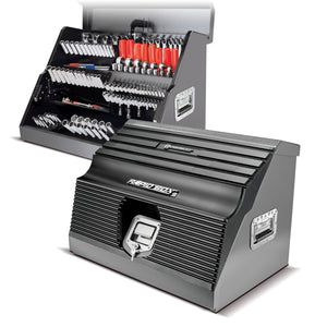 26 in. Rapid Box Portable Slant Front Tool Box - Grey