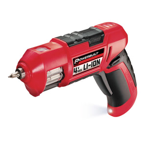 4V Lithium Ion Cordless Screwdriver with Revolving Bit Magazine