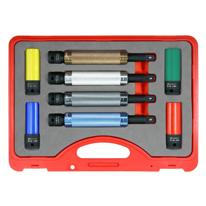 8 Pc. Torque-Limiting Extension Bar and Lug Nut Socket Set
