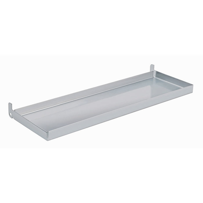 12 in. Metal Tray Shelf for Wall Mount Pegboard