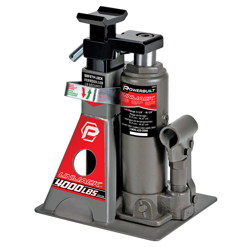 4000 Lb. Unijack Bottle Jack & Jackstand in One