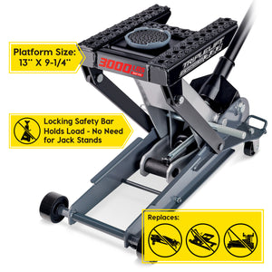 3000 Lb. Triple Lift Floor Jack