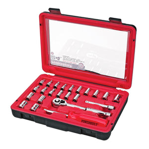 24 Piece 1/4 in. Dr. SAE and Metric Socket Set
