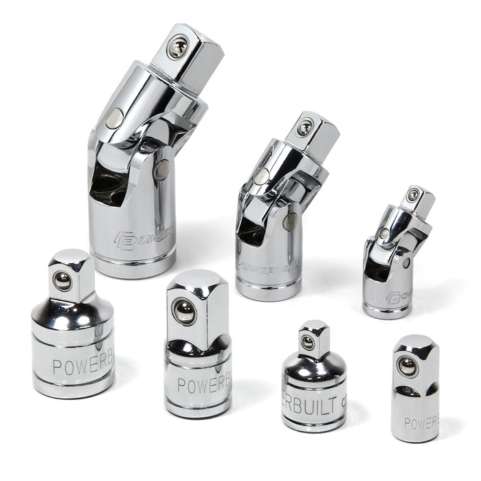 7 Piece Universal Joint & Socket Adapter Set