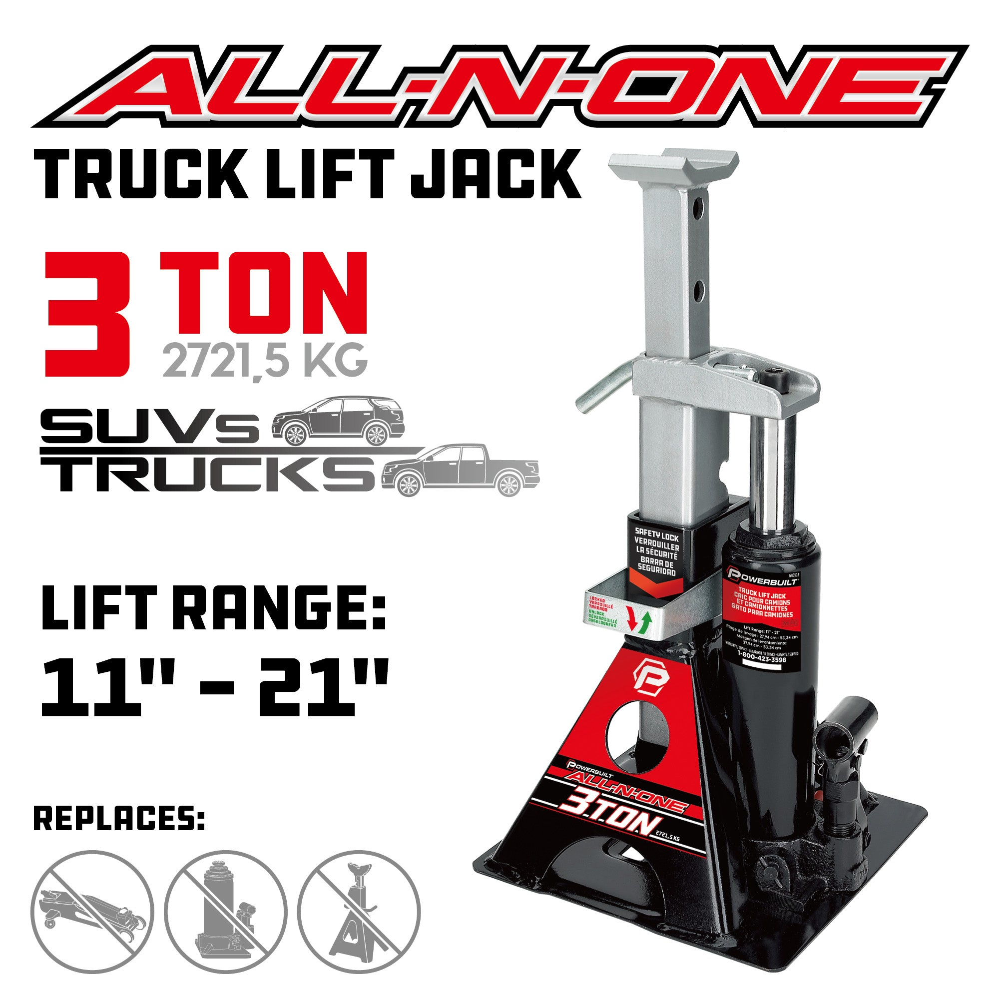 3 Ton All-in-One Jackstand/Bottle Jack