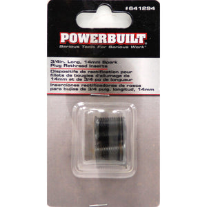 "Powerbuilt 3/4""Long,14mm Spark Plug Rethread Insert - 641294"