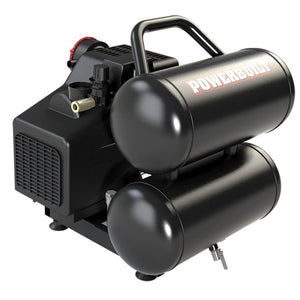 5 Gallon Twin Tank 2 HP Air Compressor with ACC