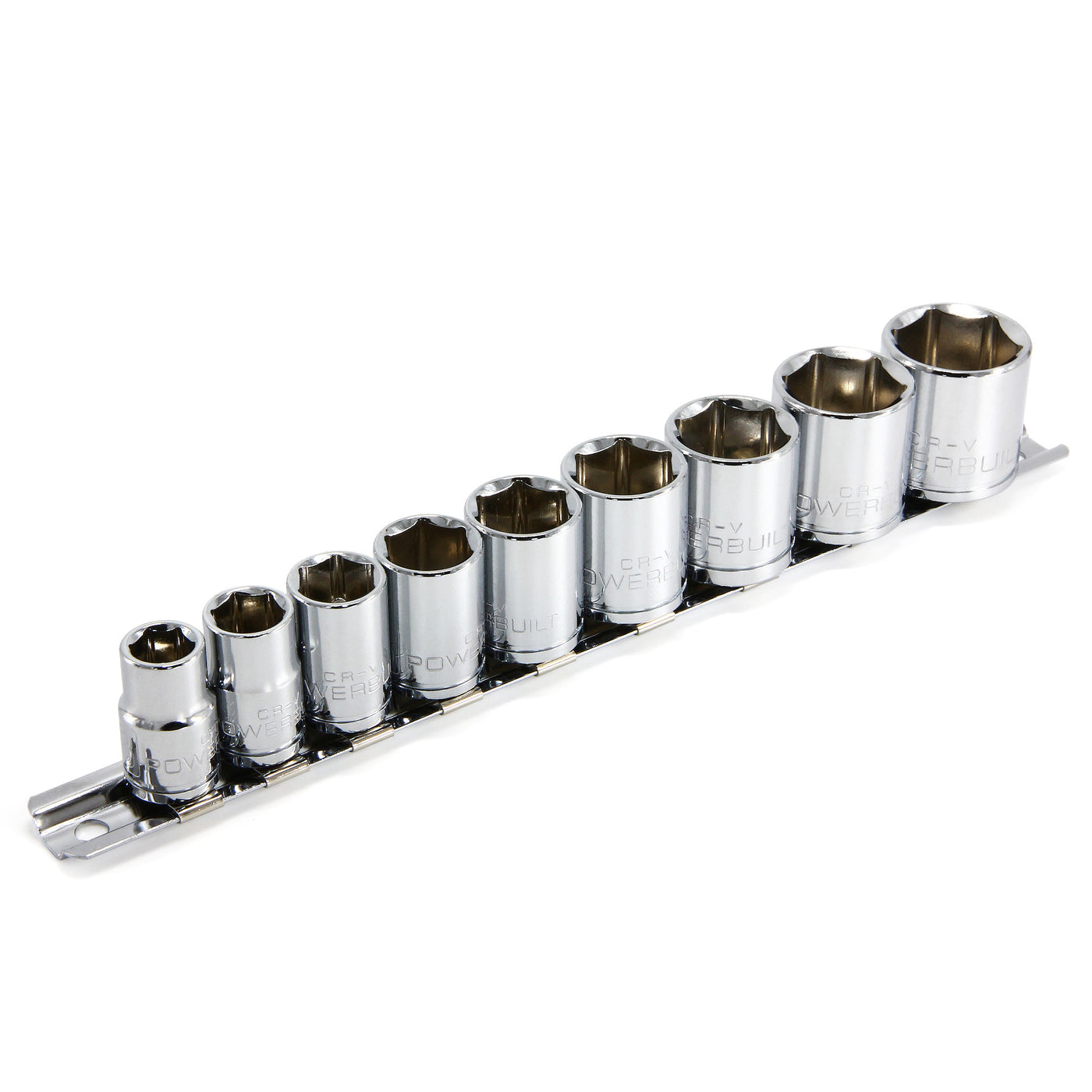 "9 pc 1//2/"" Drive Shallow Chrome Socket Set MM"
