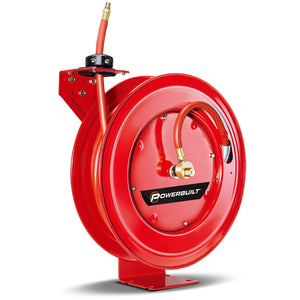 Heavy Duty Auto Retracting Air Hose Reel with 3/8 in. x 50 ft. Hose