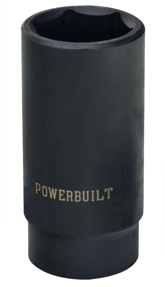 "Powerbuilt 1/2"" Drive 6 Pt. Metric Deep Impact Socket 15mm - 642314"