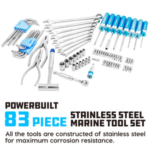83 Piece Stainless Steel Marine Tool Set