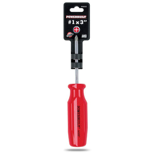 "Powerbuilt Phillips Screwdriver #1 x 3"" - 646002"