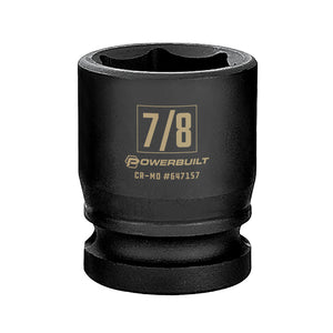Powerbuilt 1/2 in. Drive x 7/8 in. 6 Point Impact Socket - 647157
