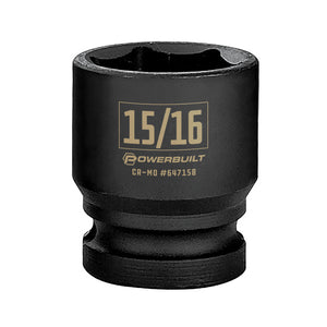 Powerbuilt 1/2 in. Drive x 15/16 in. 6 Point Impact Socket - 647158