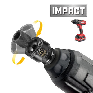 3/8 in. Dr. Universal Joint Impact Sockets - Metric