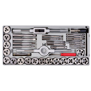 Powerbuilt 40Pc mm Tap & Die Set W/Injection Case - 647772