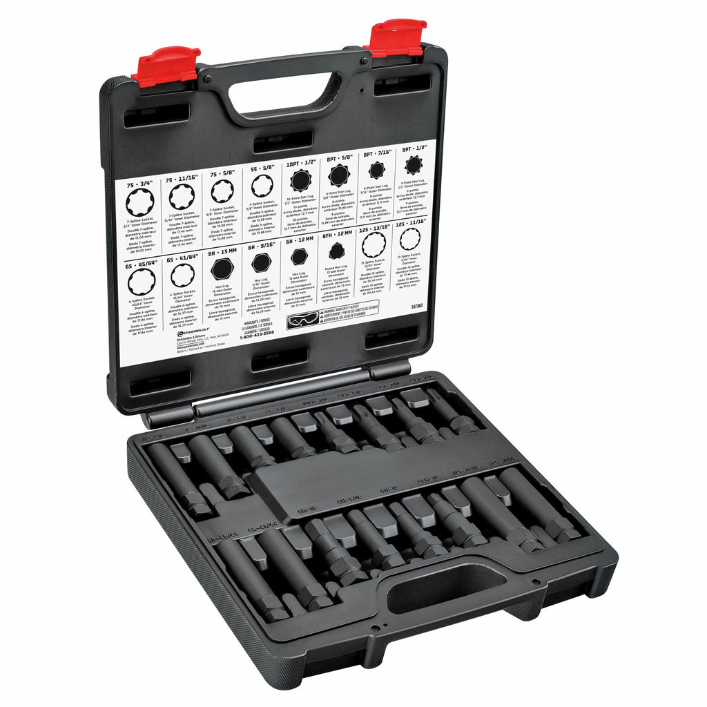 16 Piece Master Locking Lug Nut Socket Set