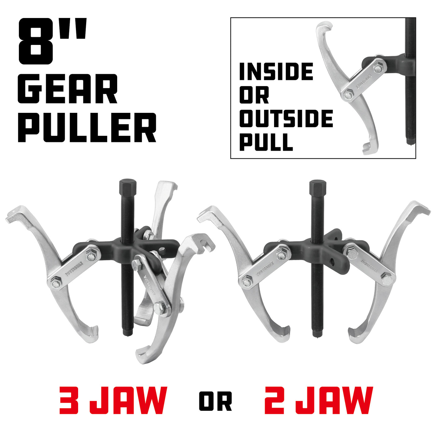 8 3 Jaw Hand Gear Pully Puller Pulling Tool