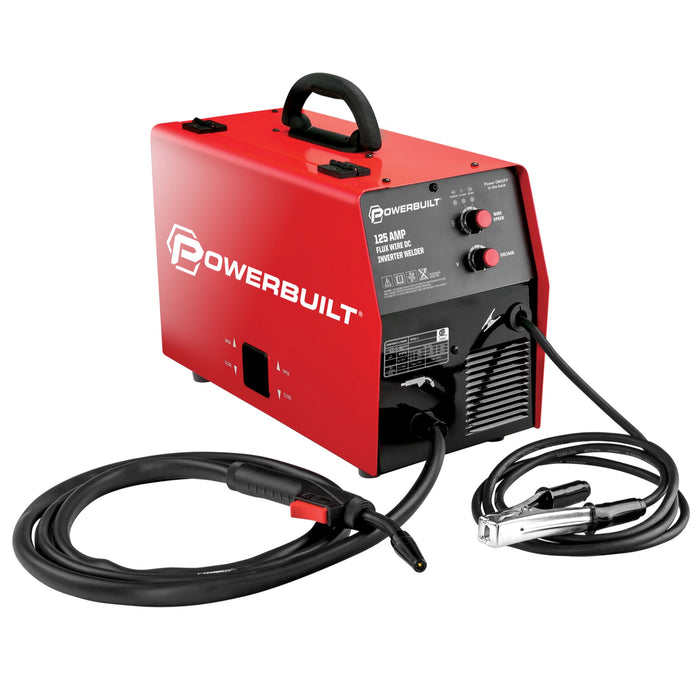 125A Portable IGBT Inverter Wire Feed Flux Core Welder