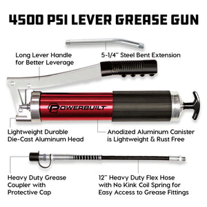 4500 PSI Anodized Grease Gun