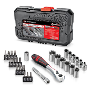 30 Piece 1/4 in. Dr. SAE Socket Set