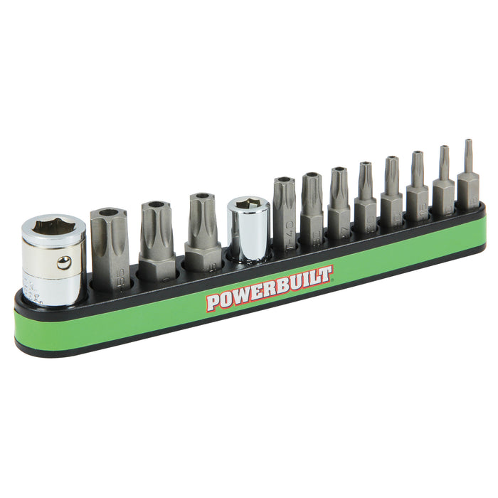 13 Piece Tamper-Proof Torx Bit and Socket Adapter Set
