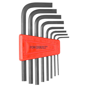 Powerbuilt 8 Piece Metric Short Arm Hex Key With Holder - 941245