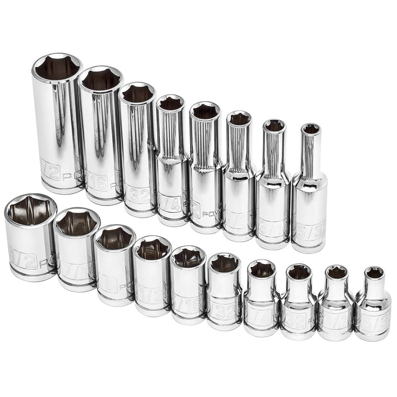 "18 Piece 1/4"" Dr. SAE Socket Set"