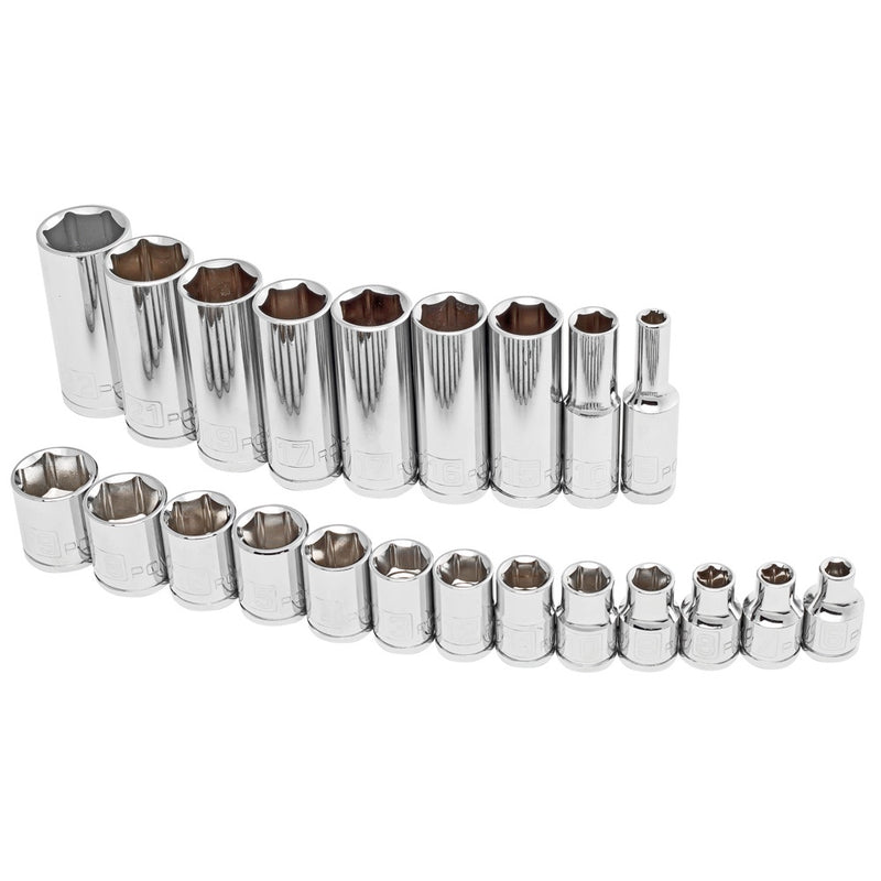 "22 Piece 3/8"" Dr. Metric 6 Pt. Socket Set"
