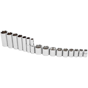 16 Piece 3/8 in. Dr. SAE 6 Pt. Socket Set