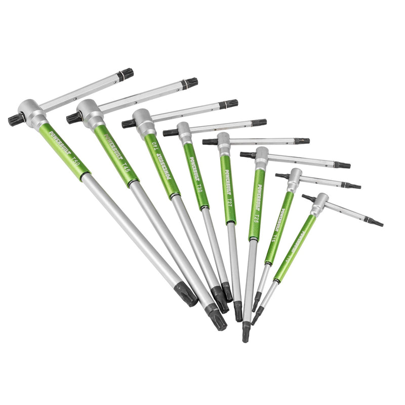 Powerbuilt 9 Piece T-Handle Torx Key Wrench Set