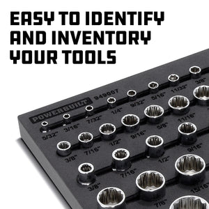 70 Piece Pro Tech 1/4 in., 3/8 in. & 1/2 in. Dr. SAE Socket Set