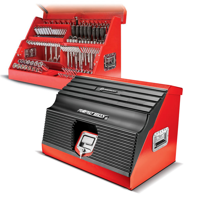 26 in. Rapid Box Portable Slant Front Toolbox - Red