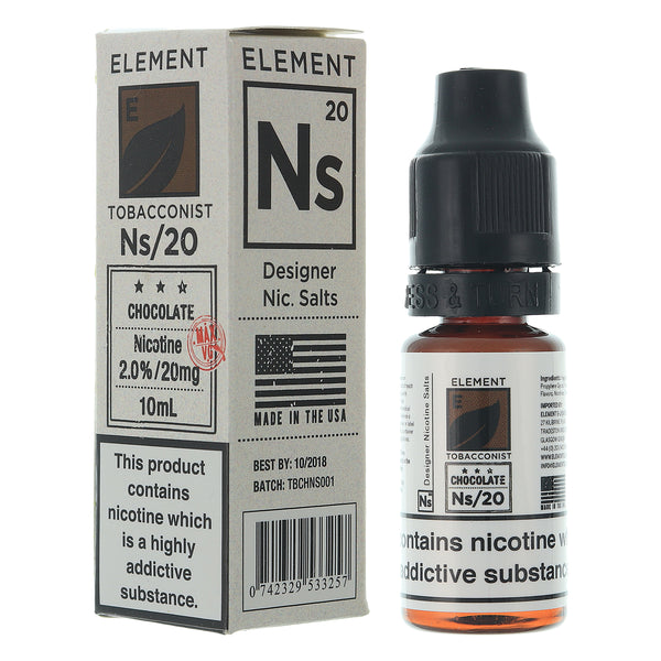 NS20 Chocolate Tobacco Nic Salt By Element