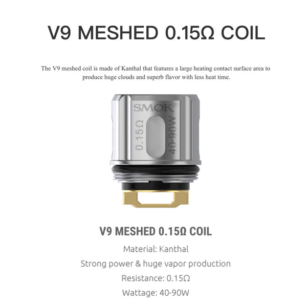 TFV9 Replacement Coil By Smok UK