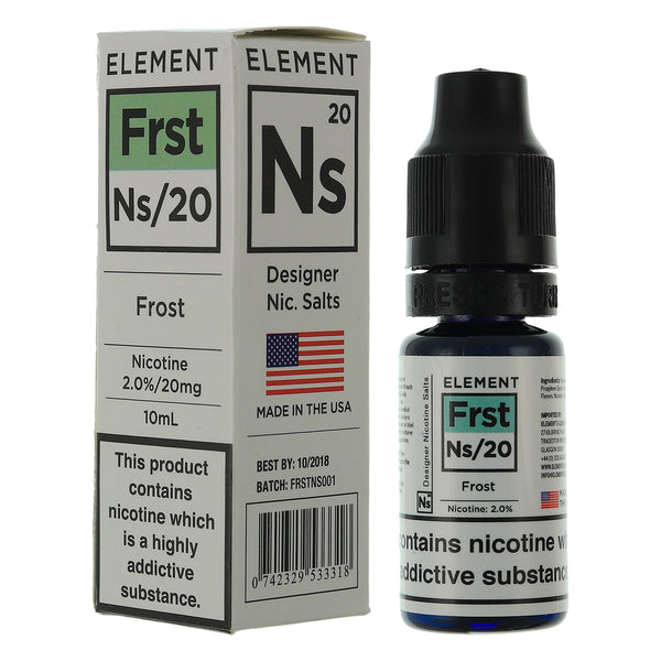 NS20 Frost Designer Nic Salts By Element