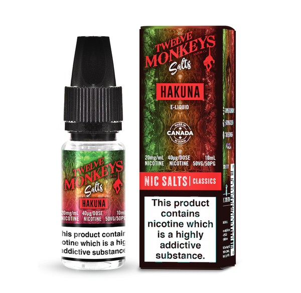 Hakuna Salt Nic By 12 Monkeys UK