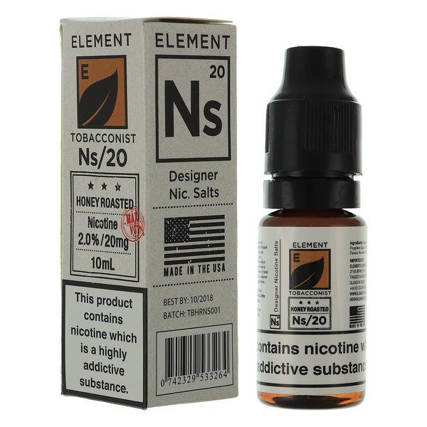 NS20 Honey Roasted Tobacco Designer Nic Salts By Element