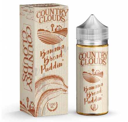 Banana Bread Puddin' 100ml 0mg E-Juice By Country Clouds