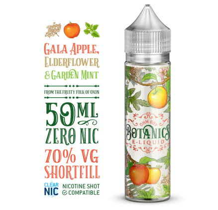 Gala Apple, Elderflower And Garden Mint  (Botanics) 50ml 0mg