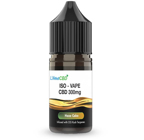 Haze Cake 300mg CBD ISO Vape By LV Well UK
